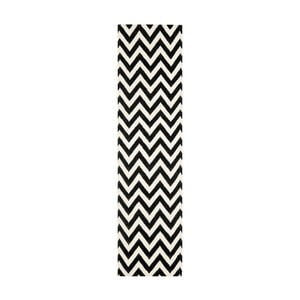 Čierny vlnený koberec Safavieh Nelli, 76x182 cm