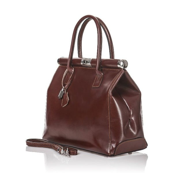 Kožená kabelka Gelso, hnedá
