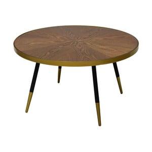 Konferenčný stolík s doskou v dekóre orechového dreva RGE Facett, výška 45 cm