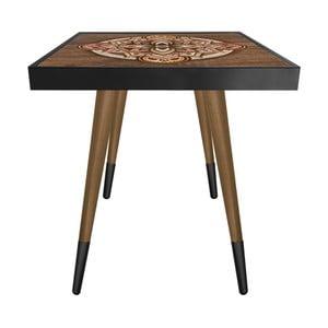 Príručný stolík Caresso Oriental Square, 45 × 45 cm
