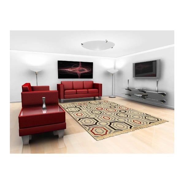 Modro-béžový koberec Ya Rugs Yuvarlak, 80x150cm