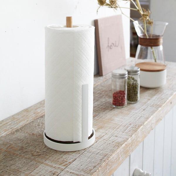 Biely stojan na kuchynské papierové utierky Yamazaki Tosca