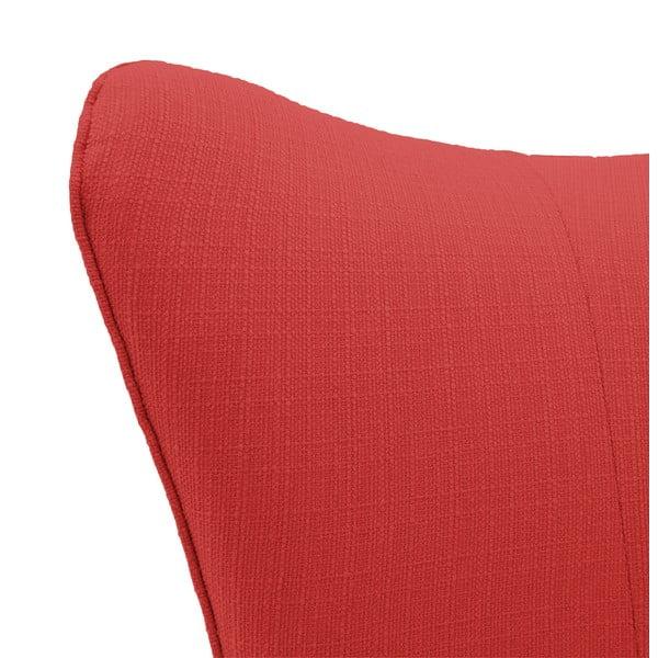 Červené kreslo Vivonita Sandy, tmavé nohy