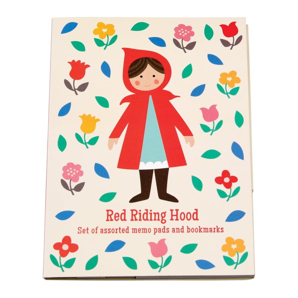 Sada 7 lepiacich bločkov s motívom Červenej Čiapočky Rex London Red Riding Hood