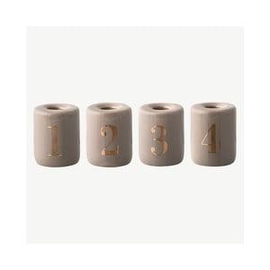 Sada 4 kameninových svietnikov Bloomingville Candles, ⌀ 6 cm
