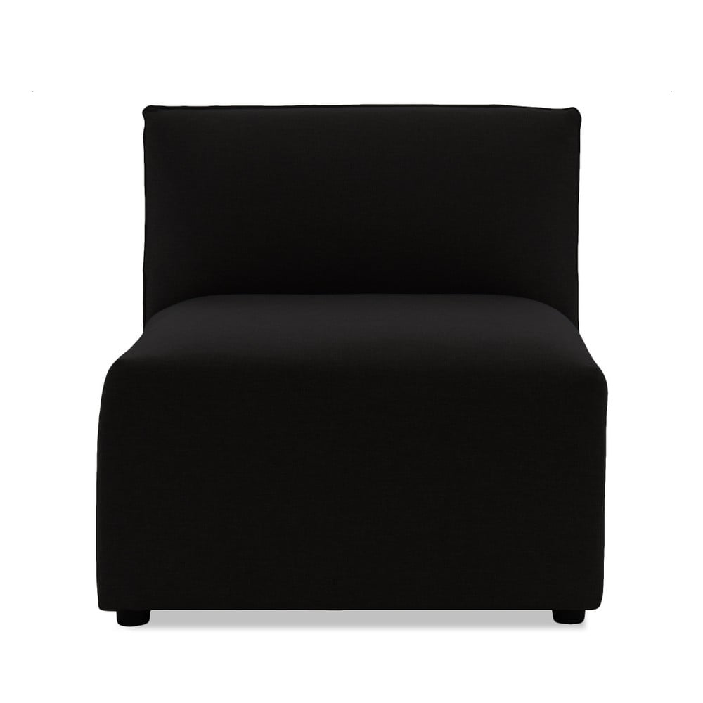 Tmavohnedý prostredný modul pohovky Vivonita Cube