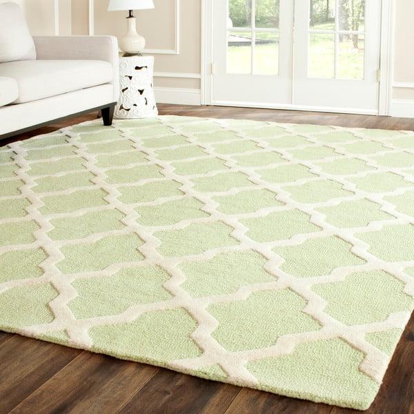 Vlnený koberec Ava Light Green, 182x274 cm