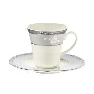 Sada 6 porcelánových šálok s tanierikom Kutahya North, 50 ml