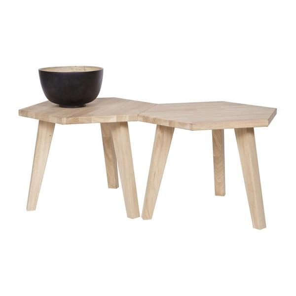Odkladací stolík z dubového dreva De Eekhoorn Hex
