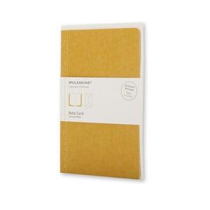 Listový set Moleskine Maize, zápisník + obálka