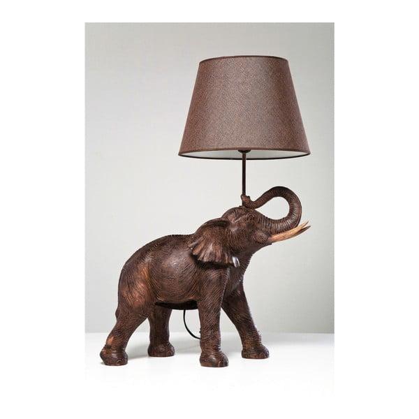 Hnedá stolová lampa Kare Design Safari