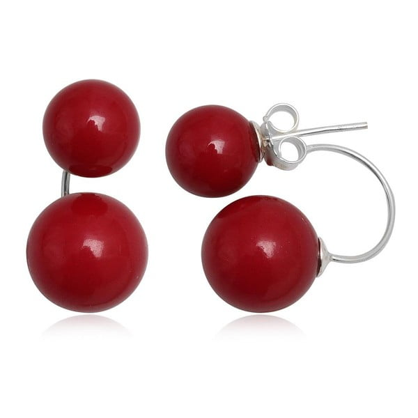 Náušnice Two Pearls Red