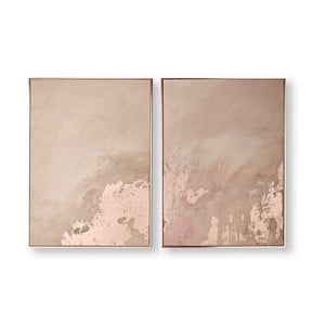 Sada 2 obrazov Graham & Brown Rose Gold Serenity, 60 × 80 cm