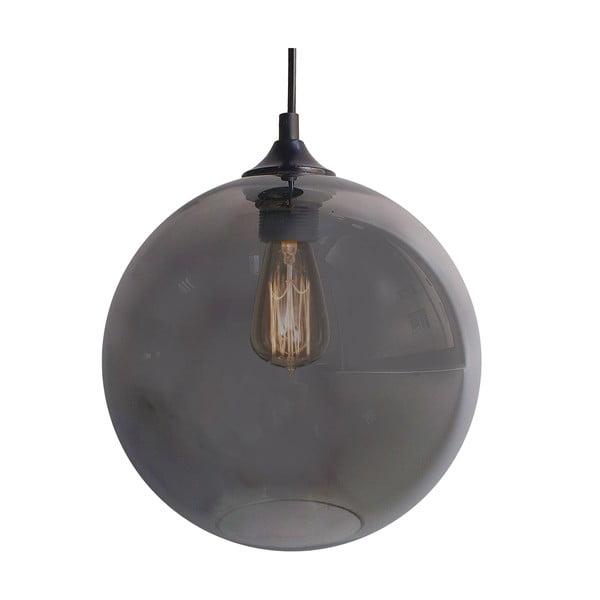 Závesné svetlo Edison, strieborné