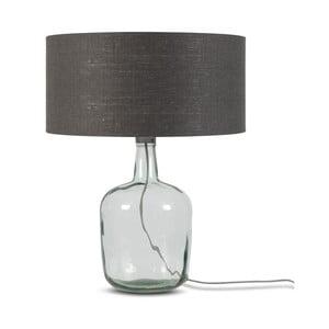 Stolová lampa s tmavosivým tienidlom a konštrukciou z recyklovaného skla Good&Mojo Murano, ⌀ 47 cm