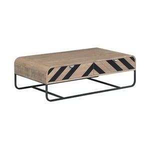 Konferenčný stolík z masívneho mangového dreva s čiernymi detailmi Woodjam Chevron