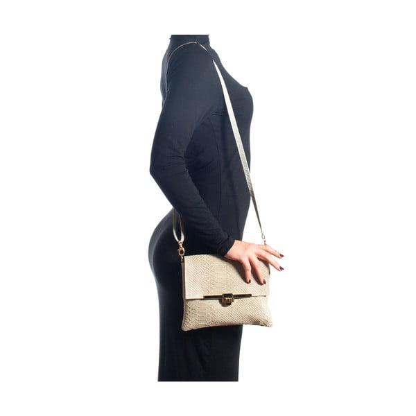 Kožená kabelka Delfina, béžová