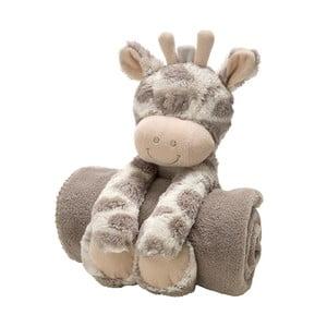 Plyšová kravička s detskou dekou, 75x100 cm