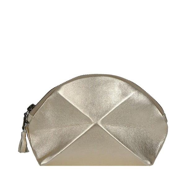 Listová kabelka/kozmetická taška Pyramid, zlatá