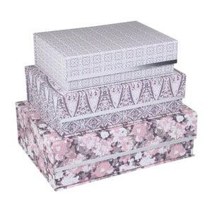 Sada 3 magnetických úložných boxov Tri-Coastal Design Vintage Love
