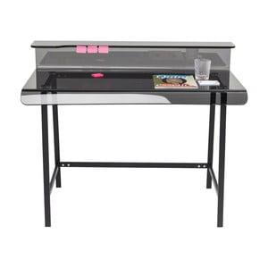 Sklenený sivý pracovný stôl Kare Design Vision