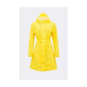Žltý dámsky plášť s vysokou vodoodolnosťou Rains Curve Jacket, veľkosť L/XL