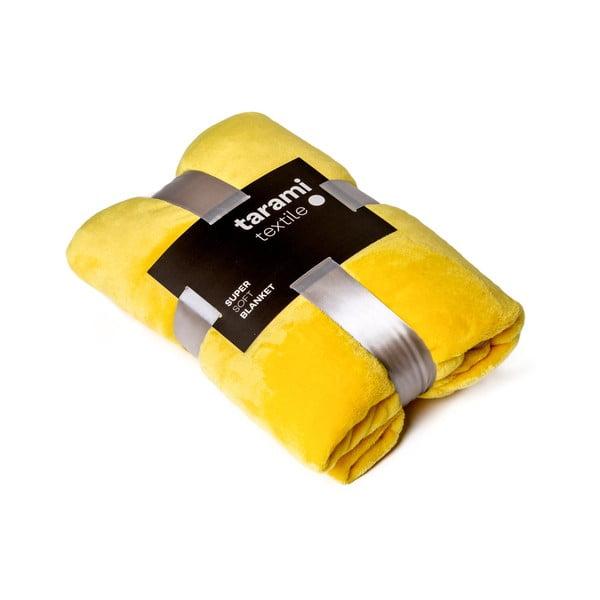 Žltá deka Tarami, 200×150 cm