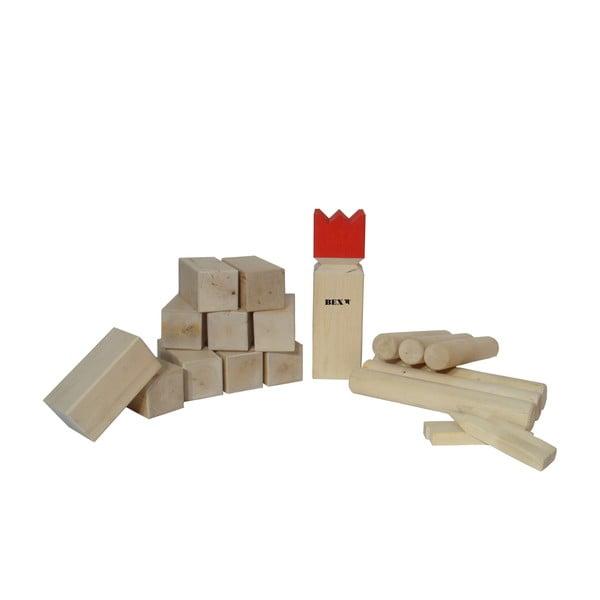 Záhradná hra pre celú rodinu Kubb, červená
