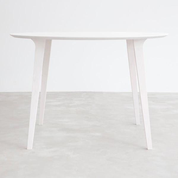 Stôl z bieleného jaseňa Stua Lau, 100 cm