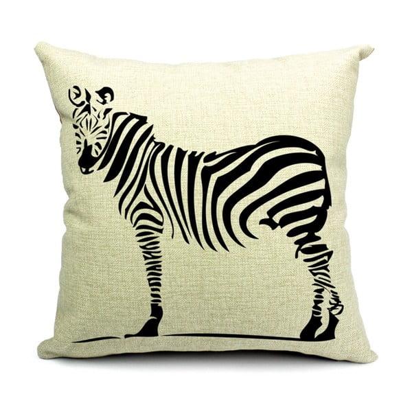 Vankúš Zebra, 45x45 cm