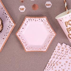 Sada 8 ružových tácok Neviti Glitz & Glamour Stars, ⌀ 12,5 cm