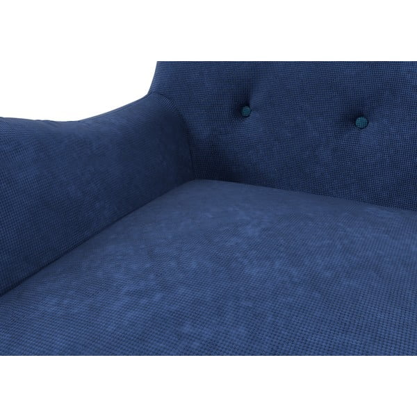 Kreslo Zefir pre jedného, tmavo modré