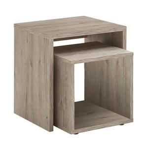 Sada 2 odkladacích stolíkov v dekore dubového dreva 13Casa Stark