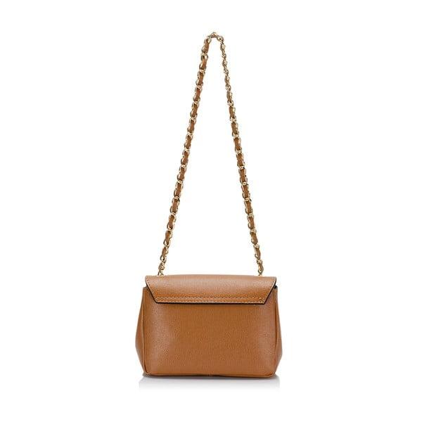 Svetlohnedá kožená kabelka s mašlí Giorgio Costa Saffiano
