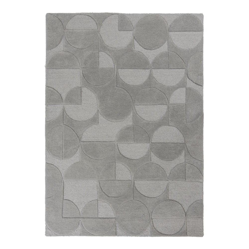 Sivý koberec z vlny Flair Rugs Gigi, 160 × 230 cm