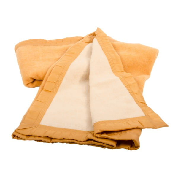 Vlnená deka Sarrazin Yellow, 150x220 cm