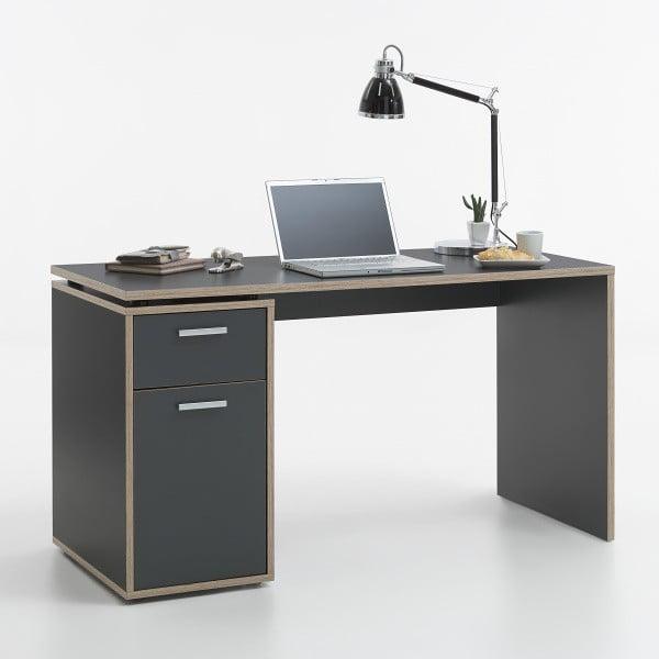 pracovný stôl Elias, šedá/dub