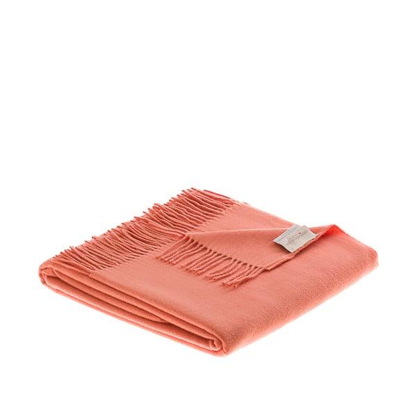 Vlnená prikrývka Rainbow 130x180 cm, oranžová
