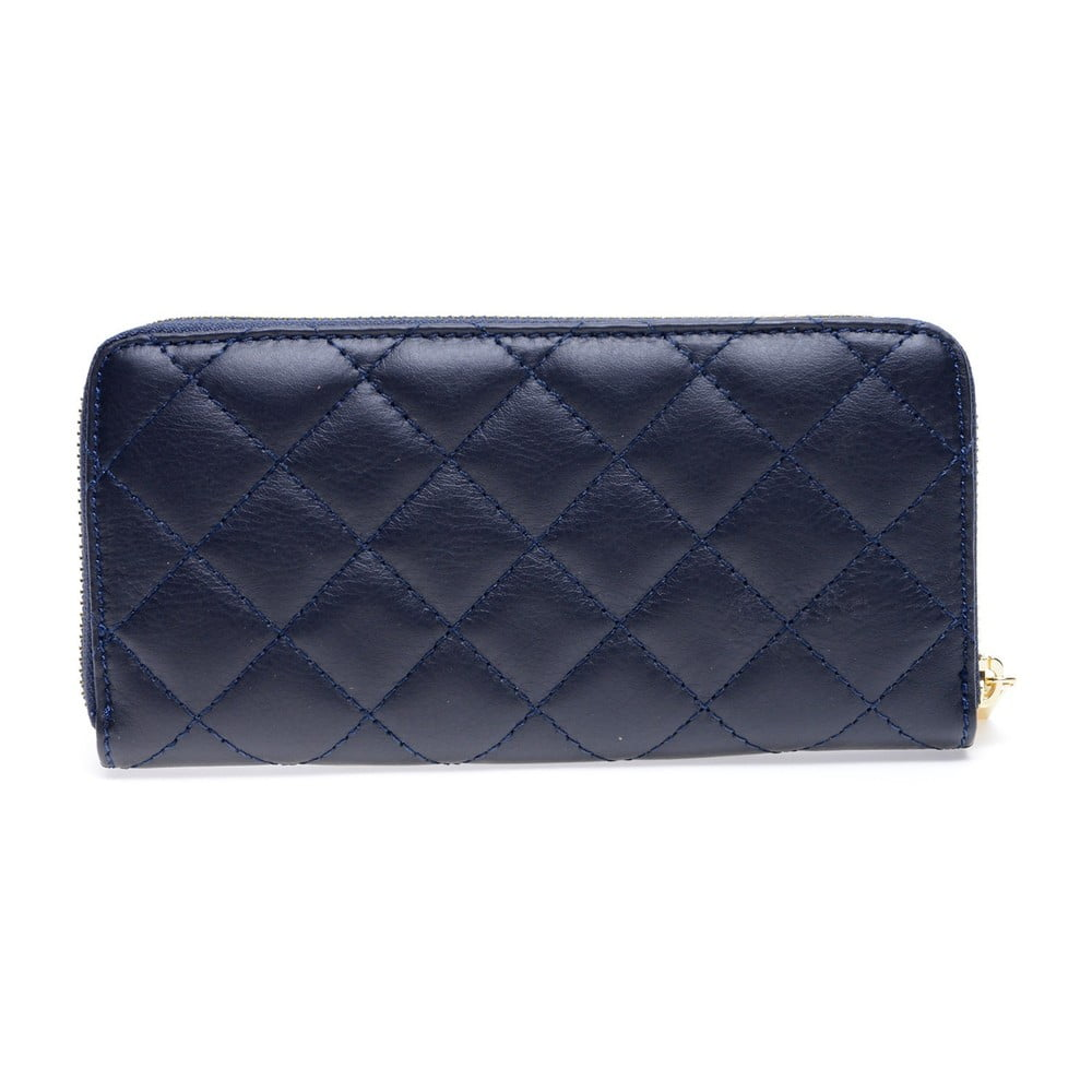 Modrá kožená peňaženka Roberta M Adelina