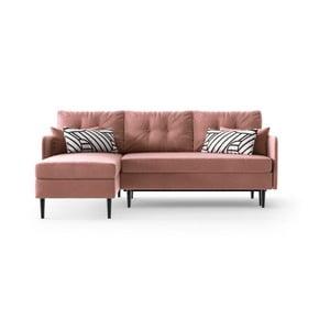 Ružová rohová rozkladacia pohovka Daniel Hechter Home Memphis Pink, ľavý roh