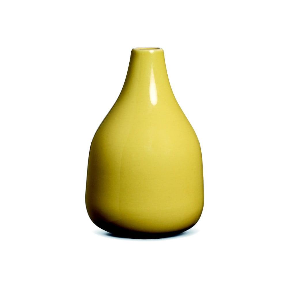 Žltá kameninová váza Kähler Design Botanica, výška 50 cm