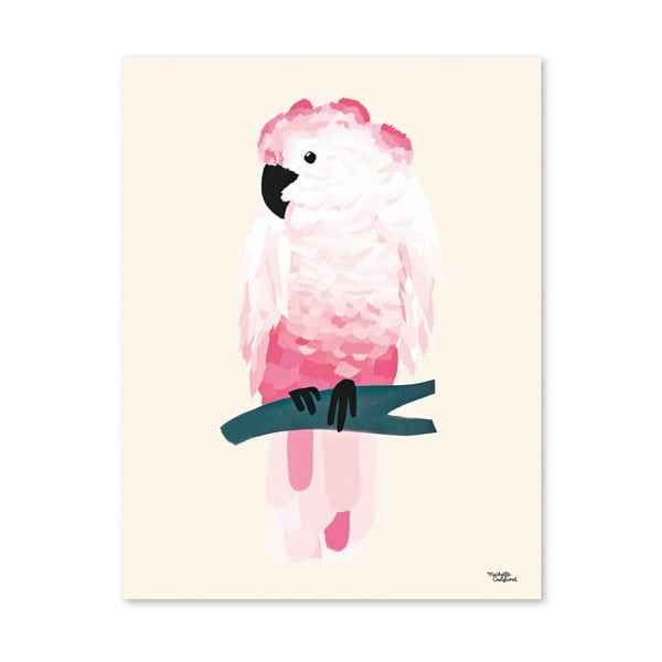 Plagát Michelle Carlslund Pink Cockatoo, 30x40cm