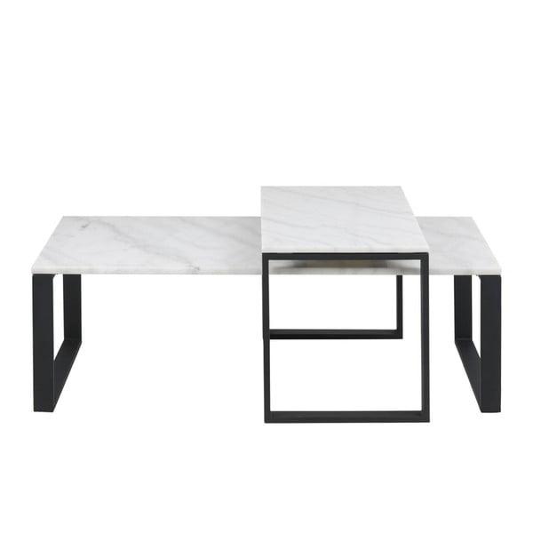 Sada 2 konferenčných stolíkov s mramorovým dekorom Actona Katrine