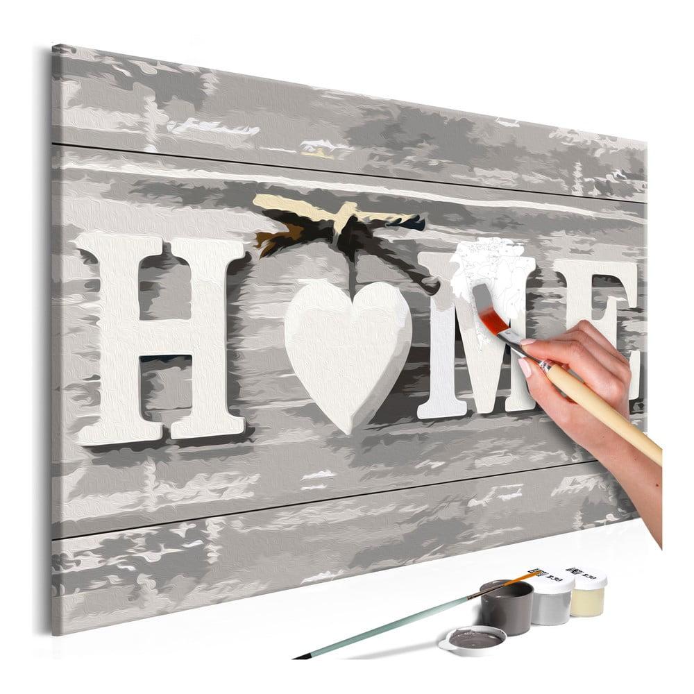 DIY set na tvorbu vlastného obrazu na plátne Artgeist Home Letters, 60 × 40 cm