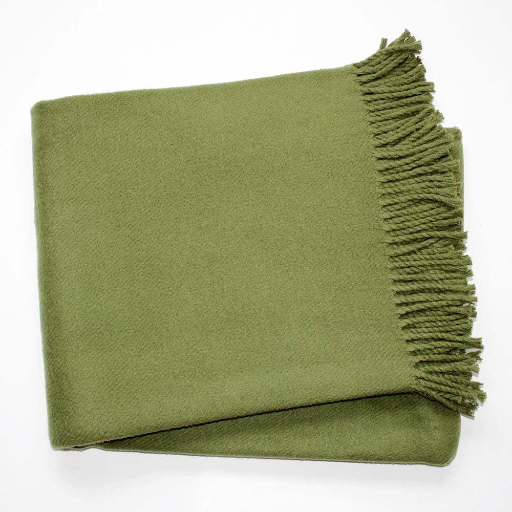 Zelená deka s podielom bavlny Euromant Basics, 140 x 180 cm