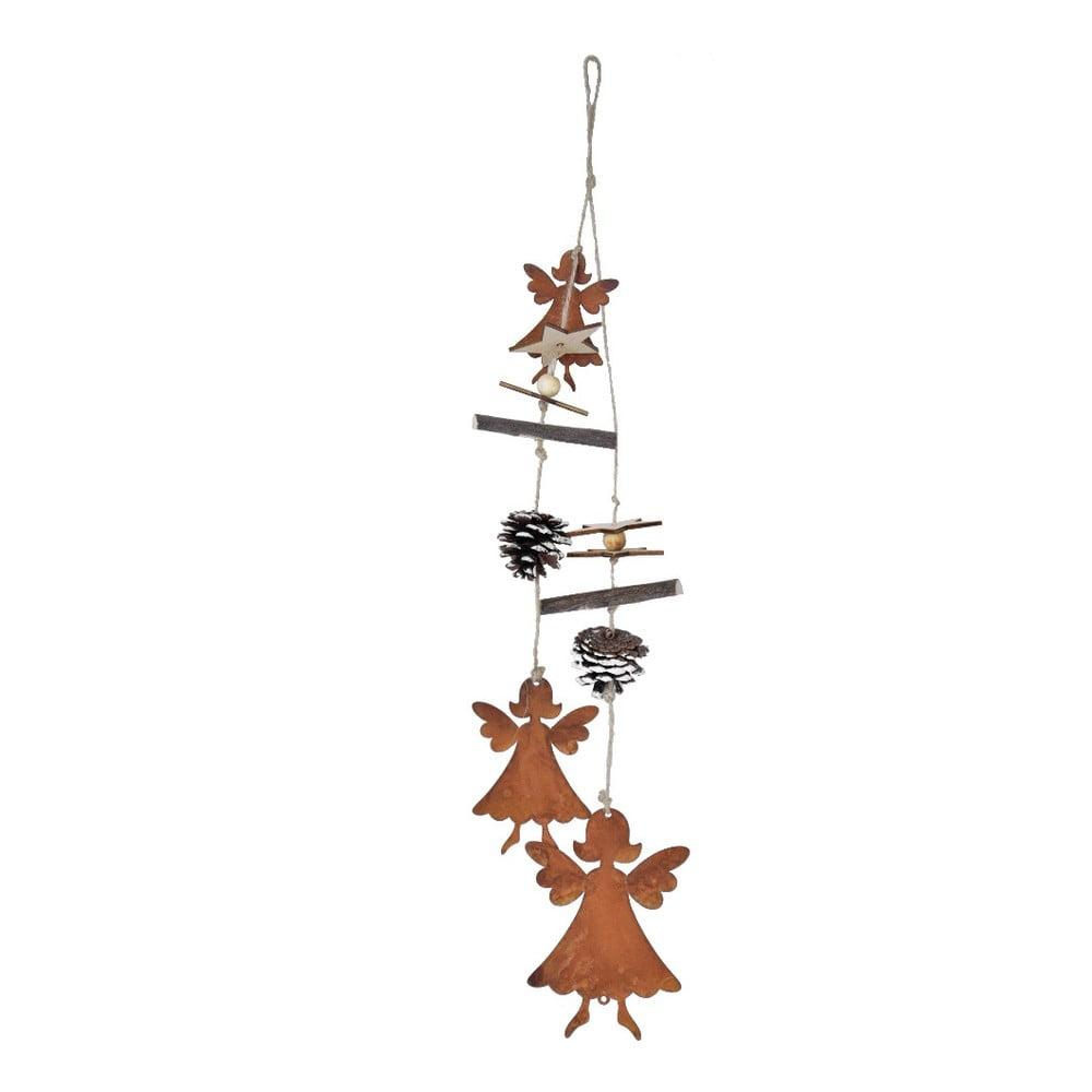 Závesné vianočné dekorácie s anjelmi Ego dekor Lousa, výška 54 cm