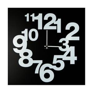 Nástenné hodiny dESIGNoBJECT.it Numbers Circle Black, 50 x 50 cm