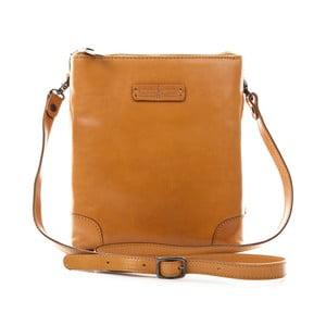 Hnedá kožená kabelka Gianni Conti Angelia