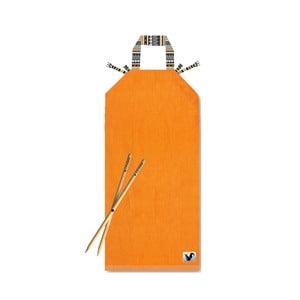 Oranžové plážové ležadlo Origama Tribal
