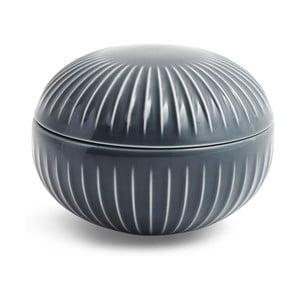 Antracitová porcelánová dóza Kähler Design Hammershoi, ⌀ 11,5 cm